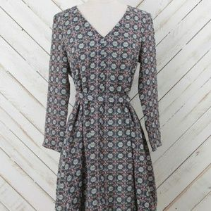 Altar'd State Blue Boho Cinch Waist Dress Sz S